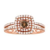 3/4 ct. tw. White and cocoa diamond� Fashion Ring in 14K Rose Gold #GiftsthatDelight #FredMeyerjewelers