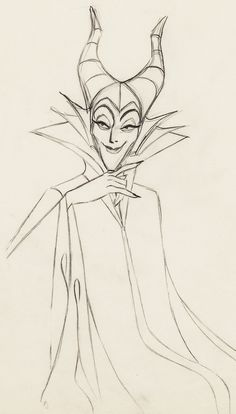Animation drawing of a character I found seriously scary as a kid: Maleficent, from Disney's Sleeping Beauty Sleeping Beauty 1959, Sleeping Beauty Maleficent, Disney Maleficent, Disney Sleeping Beauty, Disney Concept Art, Disney Fan Art, Disney Sketches, Disney Drawings, Drawing Disney