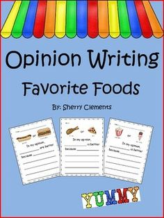 Opinion Writing: Favorite Food 5 pages $ Follow Dr. Clements' Kindergarten on Facebook for flash freebies!