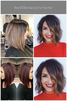 Fine Long Bob #medium bob hairstyles Best 20 Bob Haircuts for Fine Hair | Bob Haircut and Hairstyle Ideas