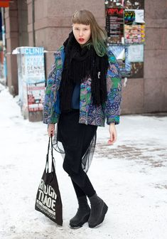 I saved this link to a Scandinavian street style website. Love it.