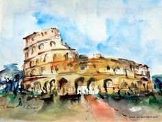 LAURA CLIMENT. ART Blog, Painting, World, Brush Strokes, Rome, Watercolor Painting, Painting Art, Paintings, Painted Canvas