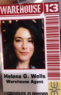 """H.G. Wells """"Warehouse 13"""" ID  badge for the show"""