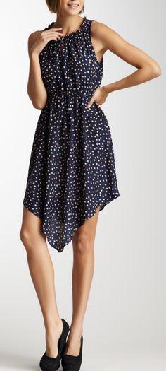 Polka Dot Asymmetrical Dress #FossilVintageRevival @Jennifer {Fab Fatale}