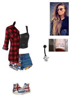 """""""Untitled #433"""" by moonyshoes ❤ liked on Polyvore featuring LE3NO, Converse and Bling Jewelry"""