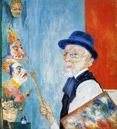 Self Portrait by James Ensor (Belgian 1860-1949)