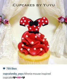 Cupcakes by yuyu - Minnie mouse cupcake
