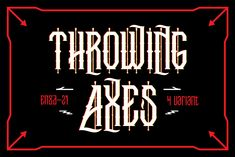 EN Present Throwing Axes Product contain: 4 varriant Throwing Axes font Font only containt: A-Z. a-z, and basic punctuation Thanks for looking and enjoy the product 21st Presents, Edit Font, How To Make Resume, Calligraphy Text, References Page, 3d Texture, Free Fonts Download, Font Free, Script Logo