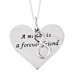 Sterling Silver A Mother Is A Forever Friend 18in Necklace – Sparkle