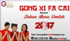 Golden Lombok Transport mengucapkan selamat tahun baru imlek 2017..