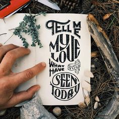 While on a 2 month trip backpacking and camping through Iceland and Europe I did a handful of lettering pieces that spoke to the absolute beauty I was experiencing during autumn in central/eastern Europe.