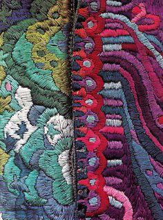 '70's Artwear  You can turn your Zentangles into embroidery patterns...  #zentangle #embroidery