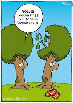 Haarausfall Sehr lustiger #Cartoon von Ralph #Ruthe.de #hwg
