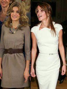 Primer plano de Dña Letizia y Rania de Jordania.