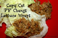 Copy Cat PF Changs Lettuce Wraps... I LOVE PF Changs Lettuce wraps, so I'll DEFINITELY be trying this one out!