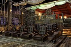 Pirate ship theater in your house? Ballin!