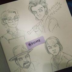 Stranger things doodles part 3 #strangerthings #doodles #sketching #ktaatk #sketch #jonathan #steve #barb #hopper #demogorgon