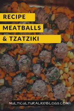 Looking for new recipes to share with your kids? Try these family-friendly Greek meatballs with tzatziki. Tasty, healthy, and easy-to-make! Easy Dinner Recipes, Easy Meals, Healthy Dinners, Easy Recipes, Meatball Recipes, Beef Recipes, Dinner Dishes, Main Dishes, Greek Meatballs