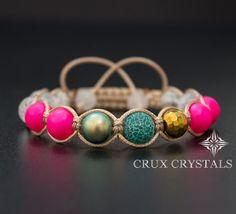 Hey, I found this really awesome Etsy listing at https://www.etsy.com/listing/205861194/pink-neon-shamballa-bracelet-swarovski