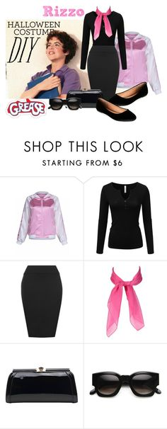 """""""DIY Halloween Costume: Rizzo from Grease"""" by empath-eye ❤ liked on Polyvore featuring Doublju, WearAll, MKF Collection, ZeroUV, Madden Girl, halloweencostume and DIYHalloween"""