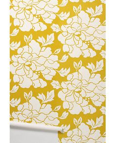 Perfect wallpaper for the bathroom or an accent wall! Get it here: http://www.bhg.com/shop/anthropologie-paeonia-wallpaper-p4df103839617cafe152be940.html?mz=a