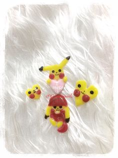 Gel, pikachu charm, 3d kawaii gel nail, gel nail art, Pokemon love, pikachu heart, kawaii pikachu, kawaii nails, kawaii nail art