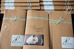 Indie Wed Chicago | handmade envelopes for bridal show handouts. Kraft paper, bakers twine, wrap around stickers for logo