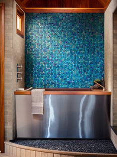 Bathroom | The mosaic tiles in this bathroom really make the room stand out! Very intricate and beautiful!
