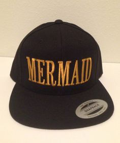 Hey, I found this really awesome Etsy listing at https://www.etsy.com/listing/154730689/mermaid-snapback-one-size-fits-all