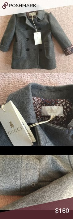 Brand new grey baby Gucci coat 3-6 months It's a brand new grey baby Gucci coat with tags. 3-6 months. Gucci Jackets & Coats