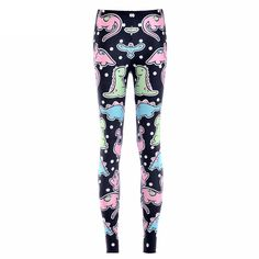 """New.+Kawaii+pastel+dinosaur+print+leggings. In+U.S.+women's+sizes+extra-small,+small,+medium,+large,+extra-large,+and+extra-extra-large+<b>*tags+will+show+larger+Asian+size*</b>+Ideally,+select+by+your+hip+measurement+first. XS:+fits+about+a+22-25""""+waist,+28""""+lower+waist,+and+33-35""""+hip. S:+fi..."""