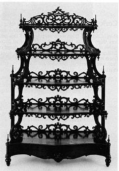 black gothic bookcase