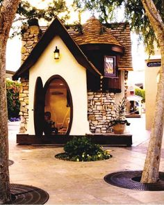 Kid's playhouse! Looks like it came straight out of a fairytale!