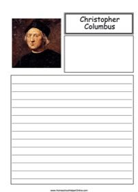 Christopher Columbus was an Italian explorer who completed four voyages across the Atlantic for Spain. He was hoping to find a route to the Indies. You can write about him in this free notebooking page. World History Teaching, World History Lessons, Lap Book Templates, History Lesson Plans, Homeschool Curriculum, Homeschooling, Christopher Columbus, Teacher Blogs, Free