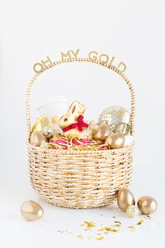 Easter basket themes for every age easter baskets easter and gift oh my gold easter basket for your gal pals negle Choice Image