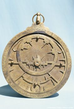 Arabic brass astrolabe dating from 16th century, Damascus Museum, Syria