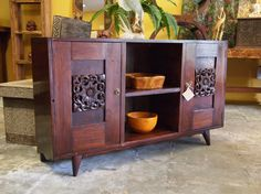 Carved Panel Vintage Deco Console