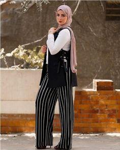 striped wide pants hijab-Fashion stylish tunics for woman – Just Trendy Girls