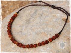 Rudraksha Yoga Bracelet Macrame Women Men by MaKarmaCreations