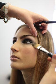 smoky eye + fresh skin + soft lip = makeup gorgeousness