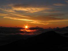 Sunrise on Haleakala, Maui, Hawaii--Magical.