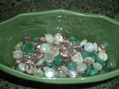 decided to show the emerald in the beads giving them that beautiful clear natural look you see in Emerald Bay Going Natural, Natural Looks, Silverware Holder, Rock Decor, Go Green, Emerald, Gems, Beautiful, Rhinestones