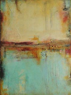 """""""East Side Story"""" - Pintura abstracta de Erin Ashley"""