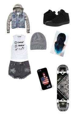 """""""Skateee"""" by plzexusemyclumsiness on Polyvore featuring Converse, Abercrombie & Fitch, Love Moschino, Glamorous and Toast"""