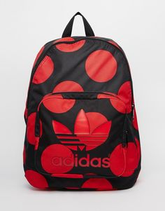 low priced 2e6fd b3426 adidas Originals x Pharrell Williams Backpack in Red Spot at asos.com