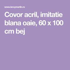 Covor acril, imitatie blana oaie, 60 x 100 cm bej