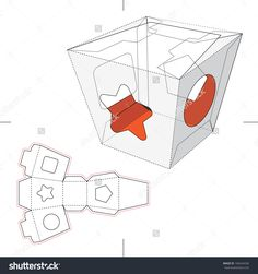 Candy Box With Display With Blueprint Stock Vector Illustration 166544336 : Shutterstock