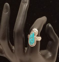 Sterling Silver & Turquose Ring ,Southwestern Jewelry, Couture Jewelry, Fashion Jewelry, Womens fashion Jewelry, BoHo Jewelry,Womens Ring