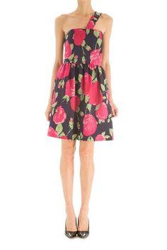 Vestido con tirante asimétrico y falda abullonada, con forro interior. Limpieza en seco. Botage corto de Kolonaki @ www.miinto.es