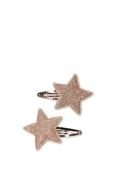 Party Hairclips, ROSE GOLD PADDED STAR